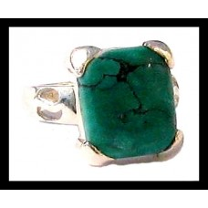 Bague indienne argent – Turquoise