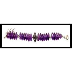 Creation of Indian silver bracelet - Amethyst