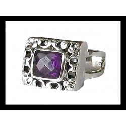 Indian silver ring - Amethyst