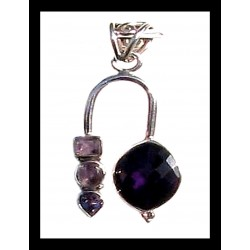 Creation of Indian silver pendant – Amethyst