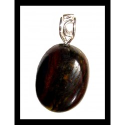 Indian Metal Pendant - Tiger eye
