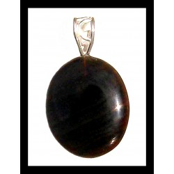 Indian Metal Pendant - Agate