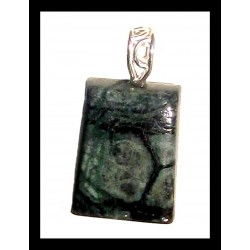 Indian Metal Pendant - Marble Agate