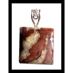 Indian Metal Pendant - Jasper
