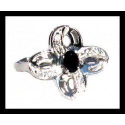 Indian ring silver rhodium - Onex