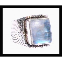 Indian silver ring - Labradorite