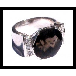 Indian silver ring - Smoky Quartz