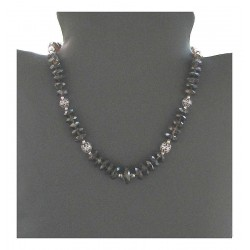 Creation indian silver necklace - Smoky Quartz