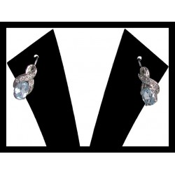 Indian earrings silver rhodium - Topaz