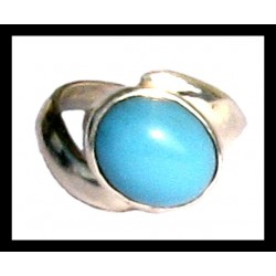 Indian silver ring - Turquoise