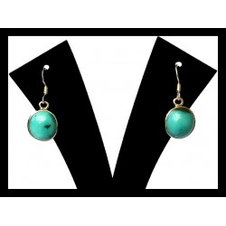 Indian silver earrings - Turquoise