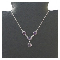 Indian necklace - Amethyst
